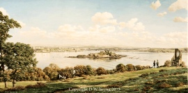 Plymouth Sound from Mount Edgcumbe painting frame options