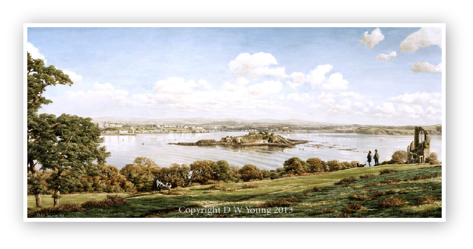 Plymouth Sound from Mount Edgcumbe enlargement